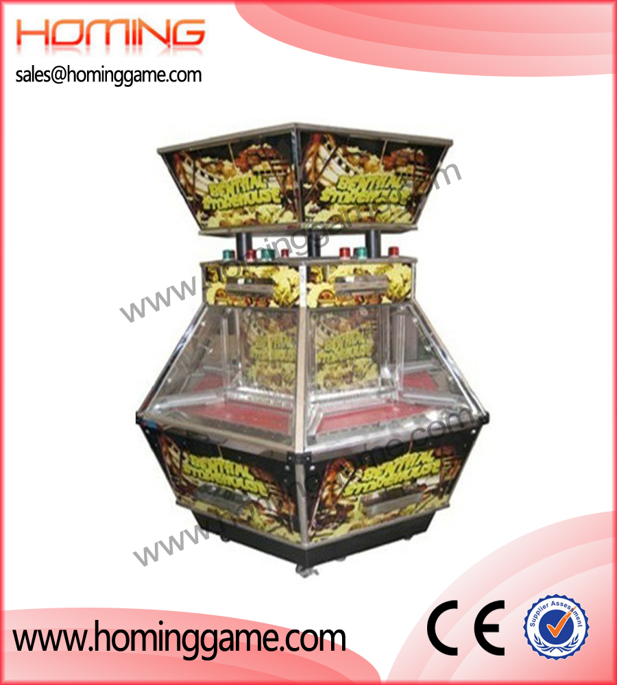 Benthal Storehouse coin pusher game machine,hot sale arcade game machine,coin pusher game machine,game machine,arcade game machine,coin operated game machine,game equipment,amusement machine,indoor game machine,electrical slot game machine,Crazy fruit coin pusher game machine,Monkey King coin pusher game machine, prize